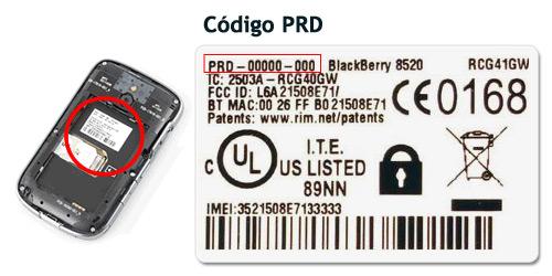 prd blackberry BlackBerry   ¿Cómo introducir el código de liberación?